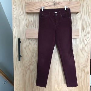 JCrew high waist skinny cord